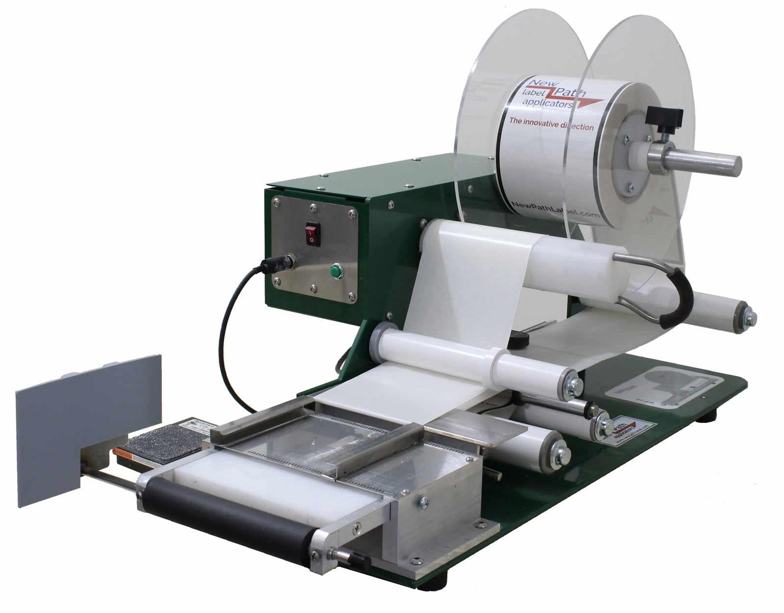 model WP20, a benchtop semiautomatic wipe-on label applicator